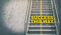 Success This Way Step Up The Success Stair Business Concept Royalty Free Stock Photos - 78578968
