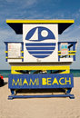 Miami Beach Lifeguard Chair Royalty Free Stock Photography - 7861917