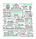 City Life - Line Design Composition Royalty Free Stock Photography - 78600737