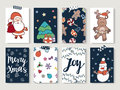 Christmas And Happy New Year Cards Set. Royalty Free Stock Photo - 78613515