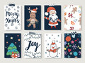 Christmas And Happy New Year Cards Set. Royalty Free Stock Photography - 78613717