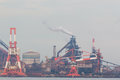 Industrial Scene Background. Landscape Of Industry At Port. Stock Photography - 78618652