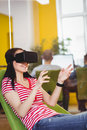 Young Executive Enjoying Augmented Reality Glases At Office Royalty Free Stock Images - 78623509