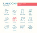Cleaning - Line Design Icons Set Stock Image - 78624581