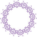 Cute Background Circle Border Frame With Flower Petals Stock Photos - 78633493