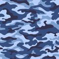 Military Camouflage Seamless Pattern, Blue Color. Vector Illustration Stock Photos - 78640713