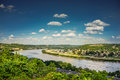 View Ohio River With Blue Sky And Clouds From Eden Park Stock Photo - 78642150