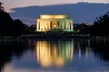 The Lincoln Memorial And The Reflecting Pool In Washington Illum Stock Photo - 78642160
