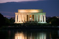 The Lincoln Memorial And The Reflecting Pool In Washington Illum Royalty Free Stock Image - 78642306