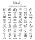 Set Of Travel Icons In Modern Thin Line Style. Stock Photo - 78649440