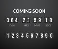 Coming Soon, Flip Countdown Timer Panel Royalty Free Stock Images - 78694889