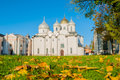 St Sophia Russian Orthodox Cathedral At Sunny Autumn Day In Veliky Novgorod, Russia Royalty Free Stock Photo - 78701245