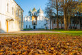 St Sophia Russian Orthodox Cathedral At Sunny Autumn Evening In Veliky Novgorod, Russia - Architecture Autumn Landscape Royalty Free Stock Photos - 78702688
