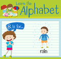 Flashcard Letter R Is For Rain Stock Images - 78707034