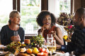 People Celebrating Thanksgiving Holiday Tradition Concept Stock Photography - 78712362