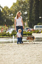 Boy Is Walking The Dog Royalty Free Stock Photo - 78744255