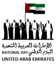 United Arab Emirates ( UAE ) National Day Logo Royalty Free Stock Photos - 78748558