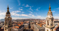 Panoramic View From The Top Of The St. Stephen S Basilica In Budapest, Hungary Stock Photos - 78755483