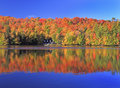 Autumn Colors On The Lake, Mont Tremblant Area, Quebec Royalty Free Stock Photography - 78766017