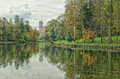 A View Of The Silver Lake And The Great Palace In Gatchina. Royalty Free Stock Images - 78766949