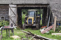 Old Tractor In The Garage Royalty Free Stock Image - 78769476