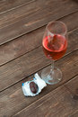 Glass Of Wine With Candy Royalty Free Stock Image - 78770196