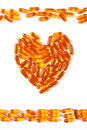 Heart Shaped Medical Pills And Capsules On White Background, Health Care Concept Royalty Free Stock Images - 78784709