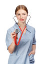 Female Doctor With Stethoscope Royalty Free Stock Photos - 78800228