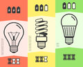 Light Bulb Efficiency Comparison Chart Infographic. Vector Illustration Royalty Free Stock Photo - 78802915