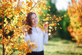 Young Beautiful Woman. Beauty Smiling Teenager Girl In Autumn Park Stock Images - 78812844