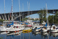 Moored Leisureboats In Marina Fredhäll Stockholm Royalty Free Stock Photography - 78830397