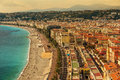 Nice, France: Top View Of Old Town AndPromenade Des Anglais Stock Photos - 78834643