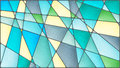 Stained Glass Illustration  With Geometric Shapes,grey And Blue Tones Royalty Free Stock Image - 78851026