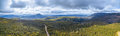 Aerial Panorama Of Mountains And Forest Above Highland Lakes Roa Royalty Free Stock Photo - 78855395