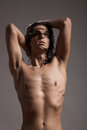 Fashion Photography Nude Body Young Man Model Wet Long Hair Stock Photos - 78855823