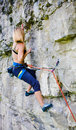 Sport Climbing Outdoors. Royalty Free Stock Image - 78858086
