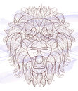 Patterned Head Of The Roaring Lion Royalty Free Stock Photos - 78869018