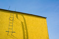 Yellow Wall And Sky Royalty Free Stock Image - 78876116
