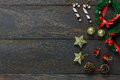 Chrismas Decoration And Ornament On Wooden Background W Royalty Free Stock Photography - 78876227