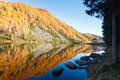 Reflections On Water, Autumn Panorama From Mountain Lake Royalty Free Stock Photo - 78886625