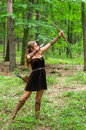 Young Lady Elf With A Long Bow Stock Photos - 78887643