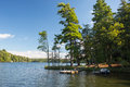 Lake With Boat And Pier Royalty Free Stock Photo - 78893585