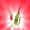 Wine Bottle And  Glass Stock Photography - 7892422