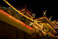 Temple Lighted Up For Chinese New Year Royalty Free Stock Photography - 7899317
