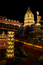 Temple Lighted Up For Chinese New Year Stock Photo - 7899850