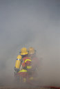 Two Firefighters Is Working Surround With Smoke Stock Images - 78900884