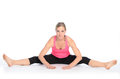 Young Woman Performing A Straddle Split Stretch Royalty Free Stock Photos - 78905998
