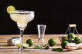 Refreshing Classic Margarita With Lime And Salt Royalty Free Stock Photos - 78911328