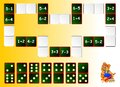 Exercises For Children - Needs To Solve Examples And Draw The Remaining Dominoes At The Correct Places To Close The Circuit. Royalty Free Stock Photos - 78914278