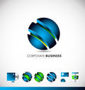 Corporate Business Blue 3d Sphere Logo Icon Design Stock Photos - 78914843